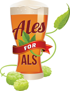 "Logo der Aktion ""Ales for ALS""."
