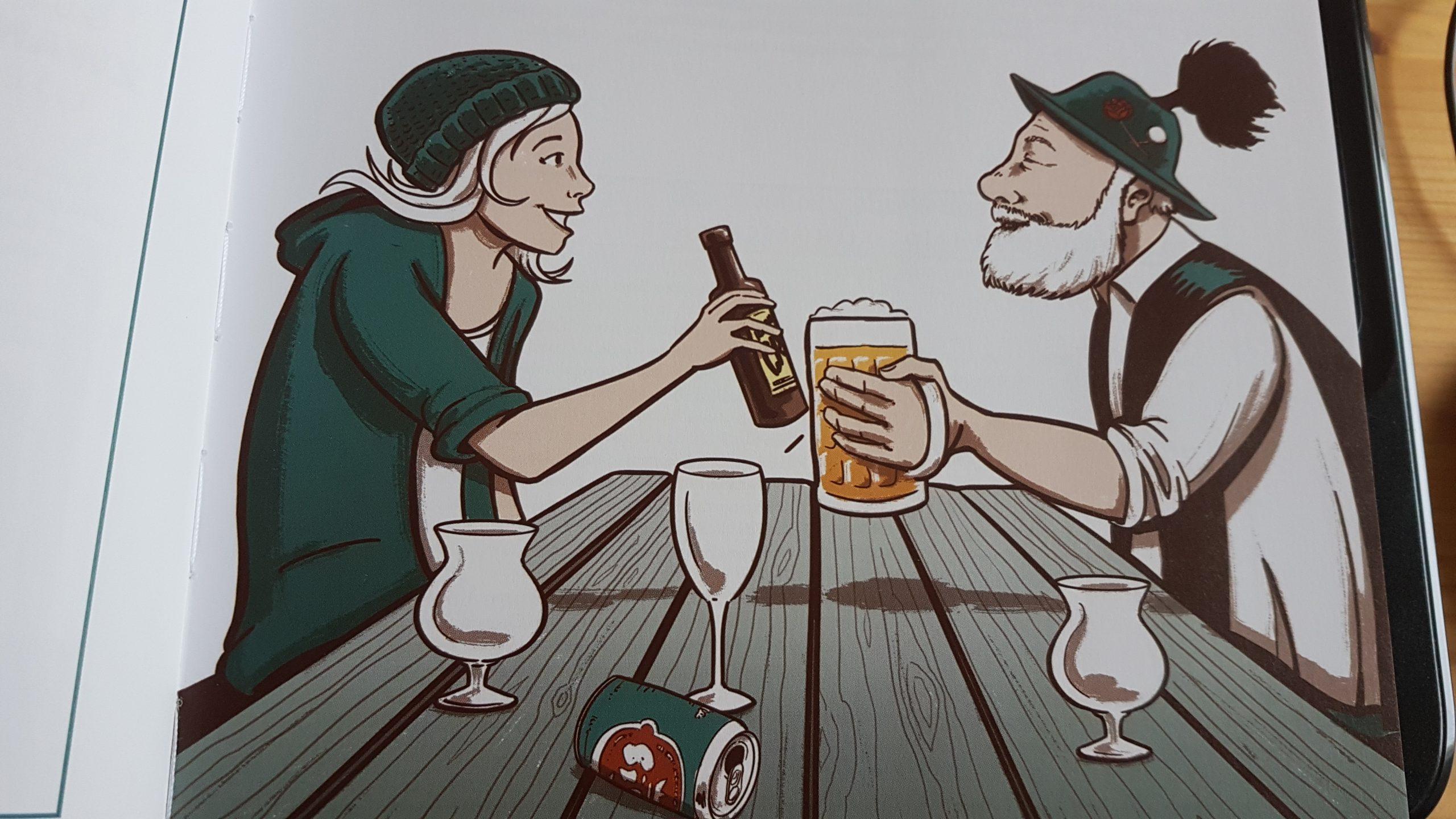 "Illustration aus dem ""ultimativen Bier Guide"""