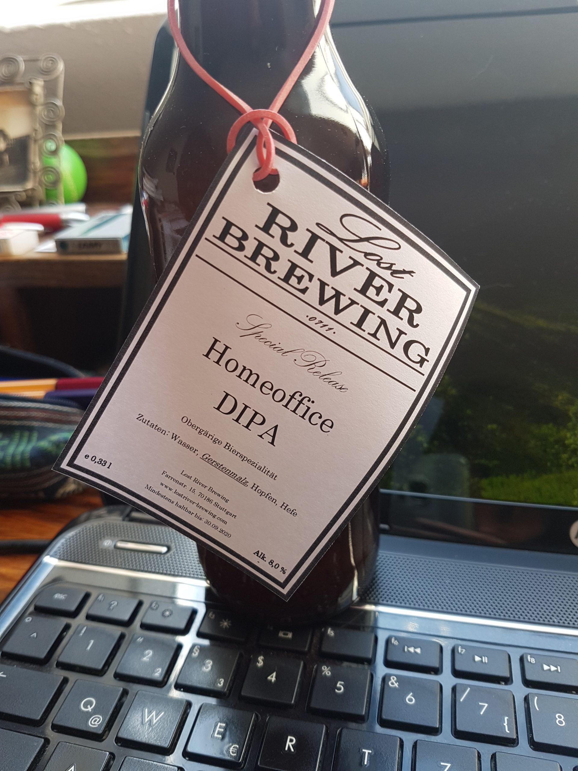 """Das Stuttgarter Bier für die besondere Arbeitssituation in der Corona-Krise: """"Homeoffice DIPA"""" von Lost River Brewing"""