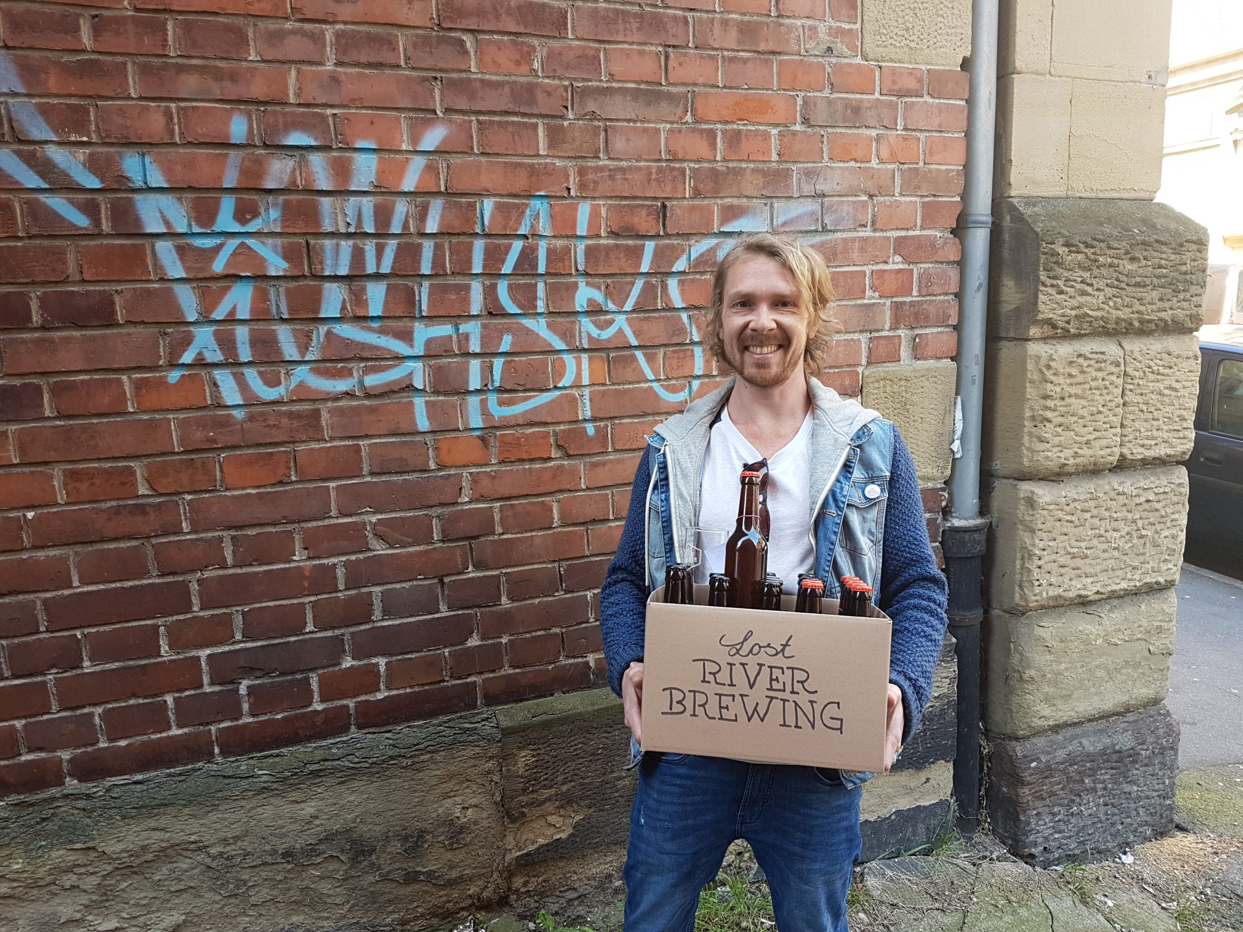Sven Fuchs von Lost River Brewing in Stuttgart liefert selbst aus